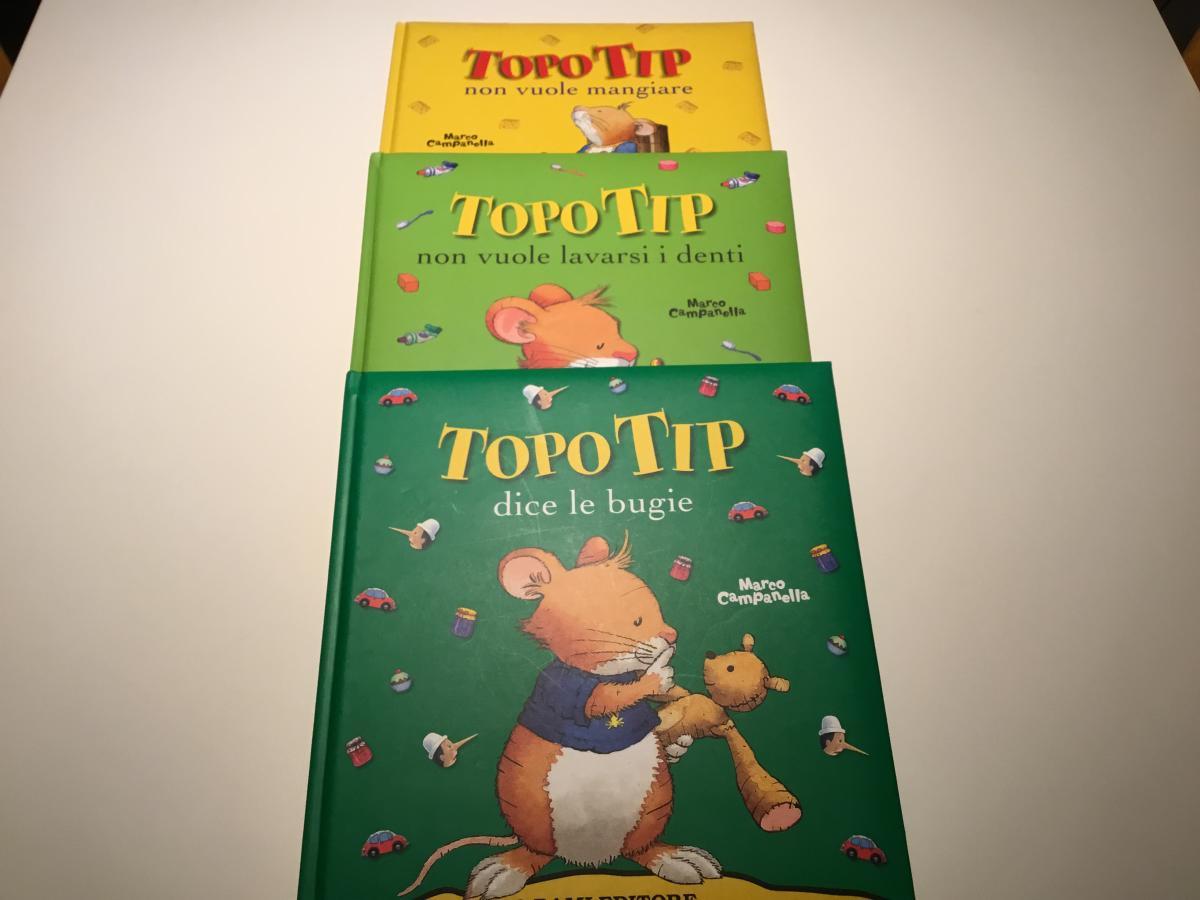 Tre libri di topo tip for Topo tip giocattoli